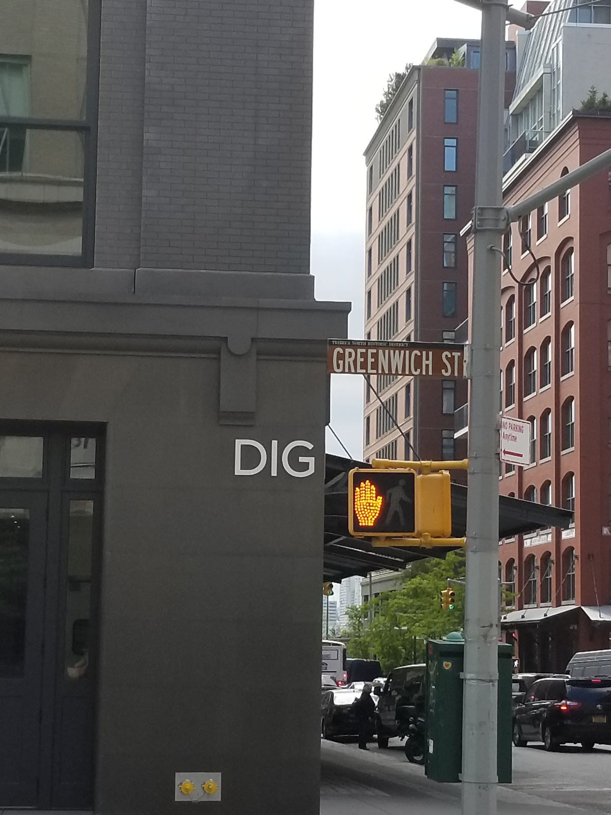 'dig' on greenwich street